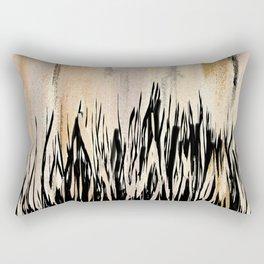 Abstract Earthtone Print Rectangular Pillow