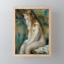 "Pierre-Auguste Renoir ""Young girl bathing"" Framed Mini Art Print"