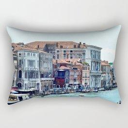 Along the Grand Canal Rectangular Pillow