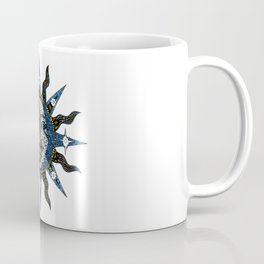Celestial Mosaic Sun and Moon Coffee Mug