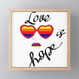 Love is hope Framed Mini Art Print