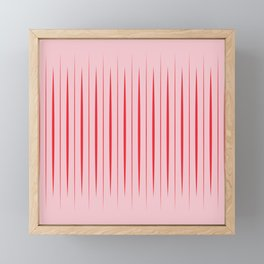 Linear Red & Pink Framed Mini Art Print