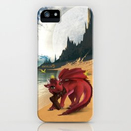 Dragonlings of Valdier: Amber iPhone Case