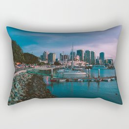 Moody sunset by Downtown San Diego Rectangular Pillow