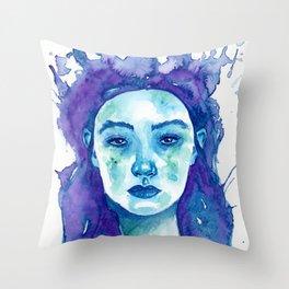 Resting Regal Face Throw Pillow