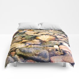 River Pebble Ripple Comforters