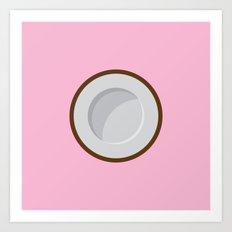 Coconut print Art Print