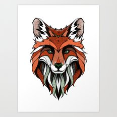 Fox // Colored Art Print