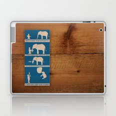 how to make your elephant fly Laptop & iPad Skin