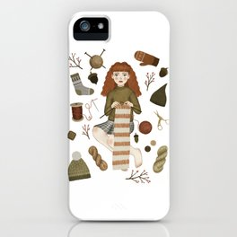 forest knitting iPhone Case