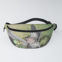 Cute little bird with funny pegasus Fanny Pack