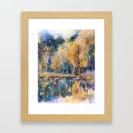 The Pond's Reflections Framed Art Print
