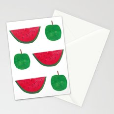 Watermelon & Apple Stationery Cards
