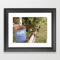 vote Framed Art Print