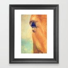 Horse Dreaming Framed Art Print