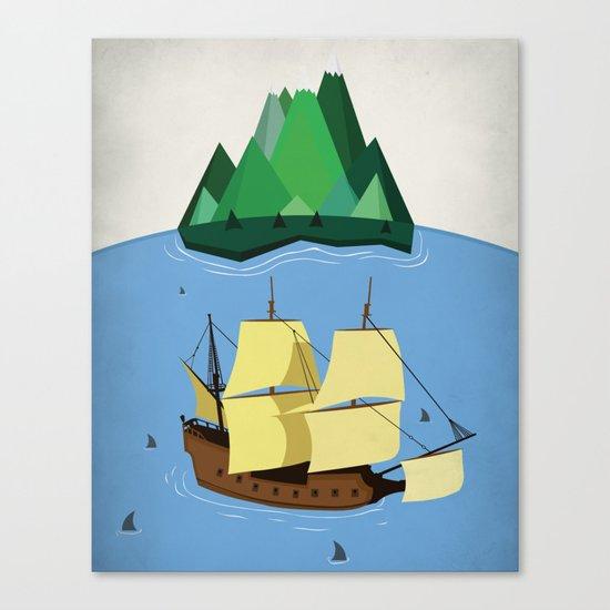 A Galleon on the High Seas Canvas Print