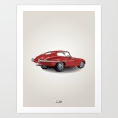 Jaguar E-Type Series 1 (1961-1968) Art Print