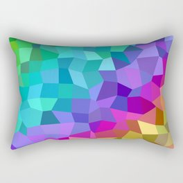 Multicolor mosaic tiles Rectangular Pillow