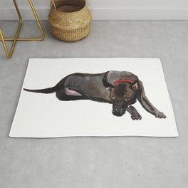watercolor dog vol 12 ridgeback Rug
