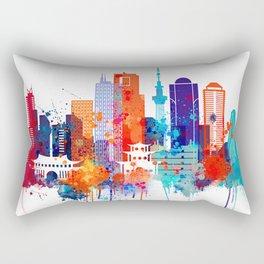 Tokyo Watercolor Skyline Rectangular Pillow