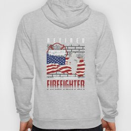 Firefighting Firetruck Fire Prevention Flames Retired Firefighter Gift Hoody