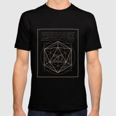 D20-Critical Hit LARGE Mens Fitted Tee Black