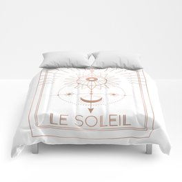 Le Soleil or The Sun Tarot White Edition Comforters