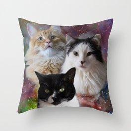 Space Fluffs Throw Pillow