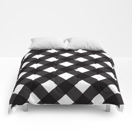 Contemporary Black & White Tilt Gingham Pattern - Mix & Match With Simplicty Of Life Comforters