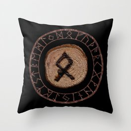 Othala Rune ancestral property, one's homeland or a sense of physical, mental, emotional, spiritual Throw Pillow