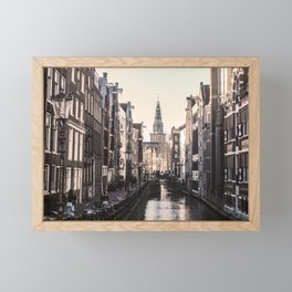 ArtWork Amsterdam EU Orange Black Framed Mini Art Print