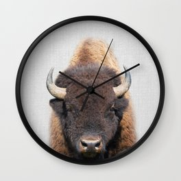 Buffalo - Colorful Wall Clock