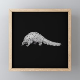 Endangered Animals - Pangolin Framed Mini Art Print