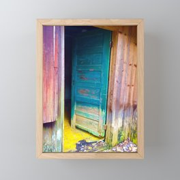 Door to a Colorful Past by Smokies Art Framed Mini Art Print