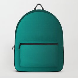 Black and Cyan Gradient 060 Backpack