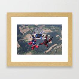 3way Formation Skydive Framed Art Print