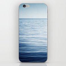 Blue Ocean Seascape, Dark Blue Sea Landscape Photography, Ocean Horizon iPhone & iPod Skin