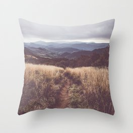 Bieszczady Mountains - Landscape and Nature Photography Throw Pillow