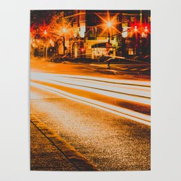 Time Lapse / Photography / Streetlights / Night Poster