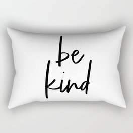 Be Kind, Typography Poster, Printable Art, Typographic Print Rectangular Pillow