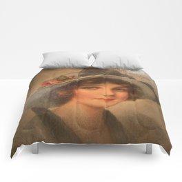 Vintage Lady 02 Comforters