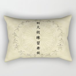 The Dancing Dragon II Rectangular Pillow