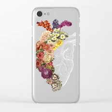 Flower Heart Spring Clear iPhone Case