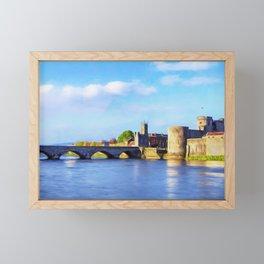 King Johns Castle and Thomond Bridge Framed Mini Art Print