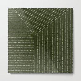 Lines (Olive Green) Metal Print