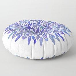 Mandala Vivid Blue Floor Pillow