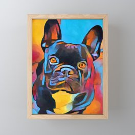 French Bulldog 5 Framed Mini Art Print