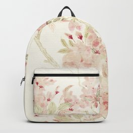 Watercolour of pink blossom Backpack