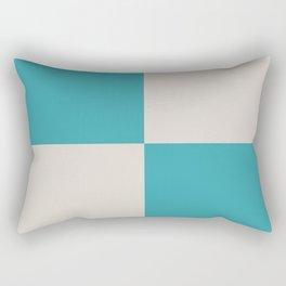 Nautical Flag, Letter U (Sea Turquoise, Cream) Rectangular Pillow