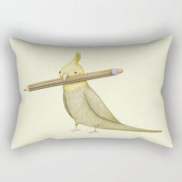 Cockatiel & Pencil Rectangular Pillow